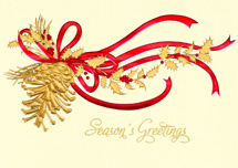 Golden Pine Holiday Cards